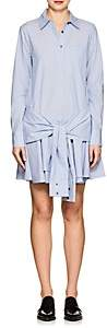 Derek Lam 10 Crosby WOMEN'S STRIPED COTTON TIE-WAIST SHIRTDRESS - BLUE SIZE 0