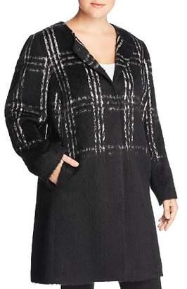 Eileen Fisher Plus Plaid Color-Block Coat