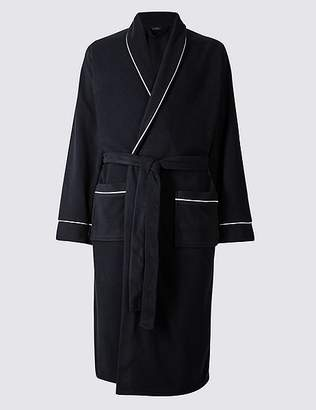 Marks and Spencer Shawl Neck Fleece Dressing Gown