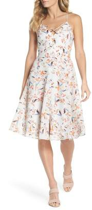 Adelyn Rae Tiffany Floral Fit & Flare Dress