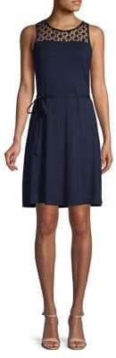 Lori Michaels Crochet A-Line Dress