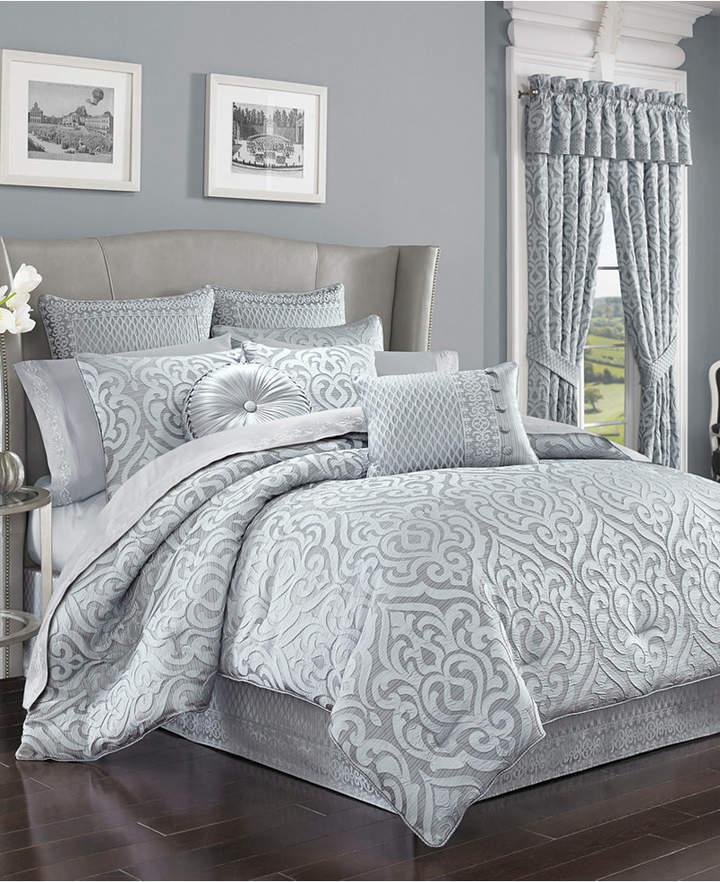 J Queen New York Harrison Chrome Tufted Round Decorative Pillow