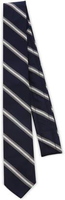 Thom Browne Narrow Stripe Silk-Cotton Tie