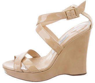 Jimmy Choo Jimmy Choo Crossover Wedge Sandals