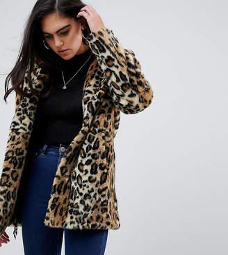 Asos Tall DESIGN Tall animal faux fur coat