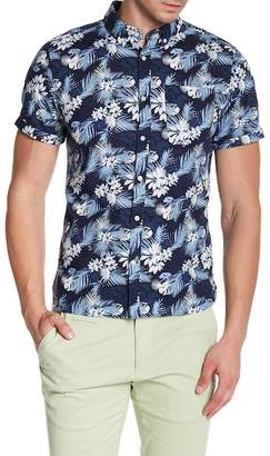 Knowledge Cotton Apparel Short Sleeve Print Woven Shirt