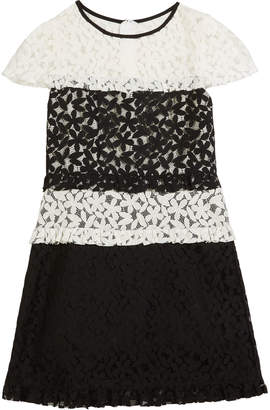 Milly Gabbriella Two-Tone Floral Lace Dress, Size 7-16