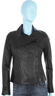 Vince Leather Jacket- Black