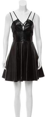 Cushnie et Ochs Leather Mini Dress