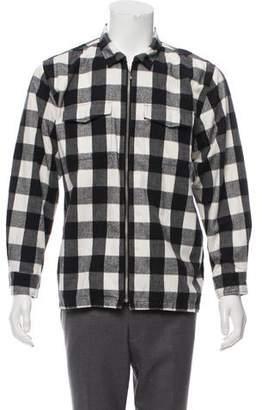 Buffalo David Bitton Supreme Plaid Flannel Zip Shirt