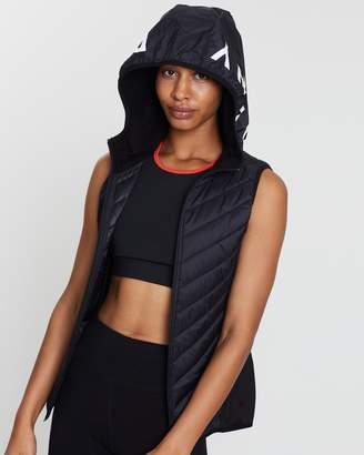 DKNY Hooded Running Vest Jacket