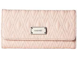 Nine West Dotted Shapes Check Sec Checkbook Wallet