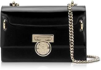 Balmain B.Box 25 Black Glossy Leather Flap Bag