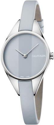 Calvin Klein Achieve Rebel Leather Band Watch, 29mm