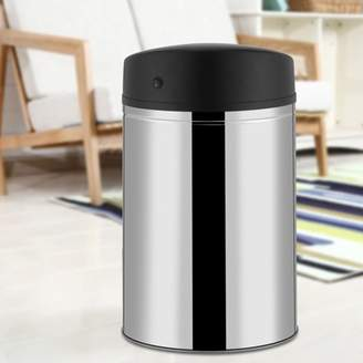 Rubbish HURRISE Sensor Garbage Can,Stainless Steel Automatic Sensor Dustbin Waste Bin Battery Powered Trash Can