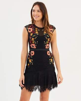 Karen Millen Embroidered Lace Pencil Dress