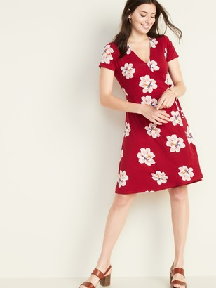 Old Navy Waist-Defined Faux-Wrap Jersey Dress for Women