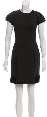 Etro Velvet-Trimmed Mini Dress