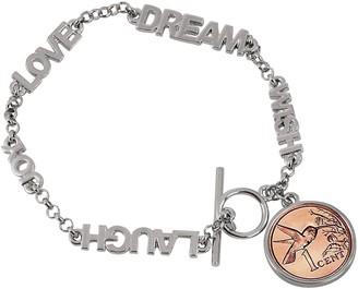 American Coin Treasures Hummingbird Word Coin Bracelet