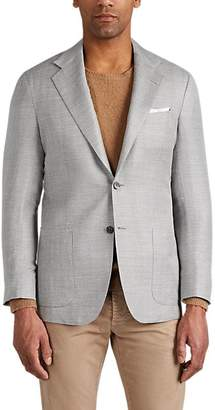 Kiton Men's KB Cashmere-Blend Two-Button Sportcoat - Light, Pastel gray