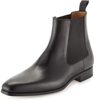 Magnanni Hand Antique Leather Boots, Black