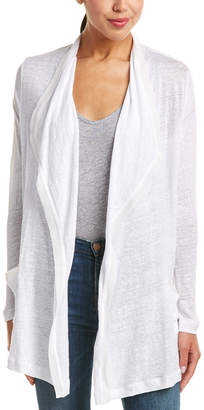 Three Dots Waterfall Linen & Silk Cardigan