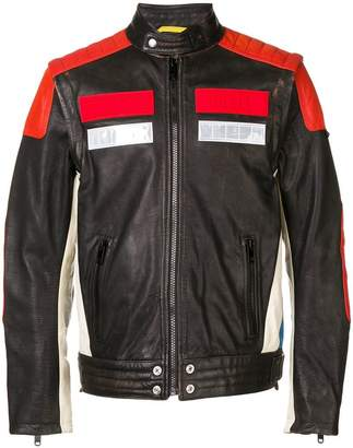 Diesel removable sleeves biker jacket