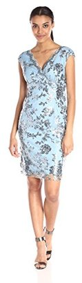 Marina Women's Dress In Sequin Floral Lace $179 thestylecure.com