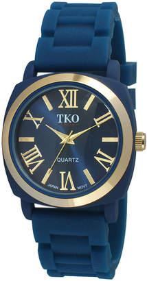 JCPenney TKO ORLOGI Milano III Womens Blue Silicone Strap Watch