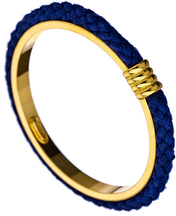 Ben-Amun Ben Amun Blue Cord Gold Plated Bangle