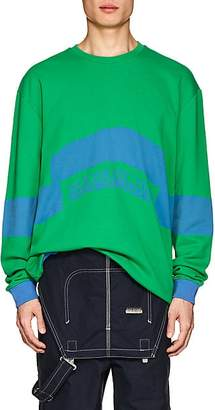 Martine Rose Napa by NAPA BY MEN'S BACCHUS LOGO COTTON OVERSIZED SWEATSHIRT - GREEN SIZE 2