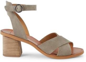 Dolce Vita Ramon Criss-Cross Suede Stacked Heel Sandals