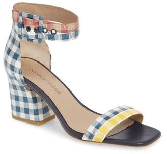 Donald J Pliner Watson Gingham Ankle Strap Sandal