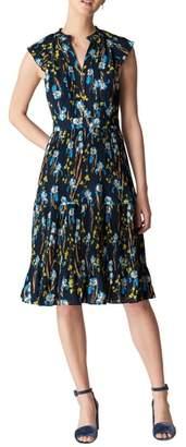Whistles Celia Iris Pleat Dress