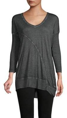 Calvin Klein V-neck High-Low Tee