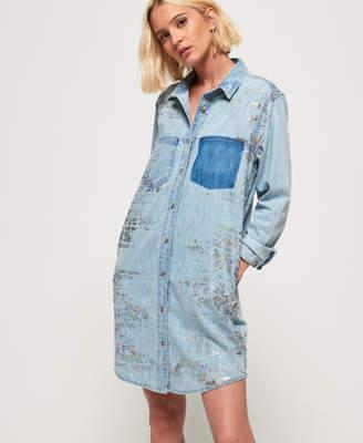 26fe8f25615 Superdry Oversized Denim Shirt Dress