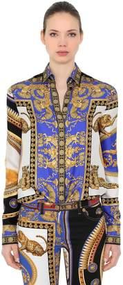 Versace The Lovers Printed Silk Twill Shirt