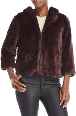 Dolce Cabo Faux Fur Hooded Jacket