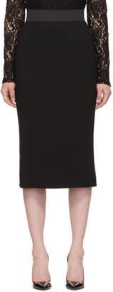 Dolce & Gabbana Black Cady Pencil Skirt