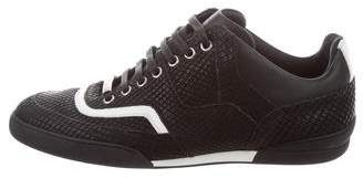 Christian Dior Round-Toe Low-Top Sneakers