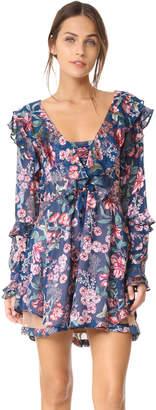 For Love & Lemons Flora Drawstring Mini Dress