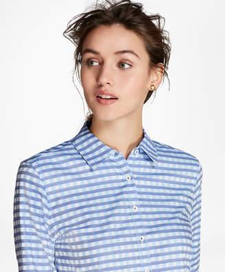 Brooks Brothers Gingham Dobby Cotton Shirt