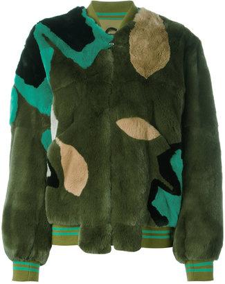 Army Yves Salomon panelled coat