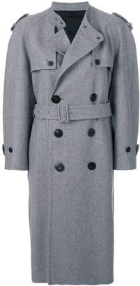 Neil Barrett double breasted trench coat