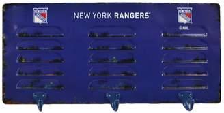 New York Rangers 3-Hook Metal Locker Coat Rack