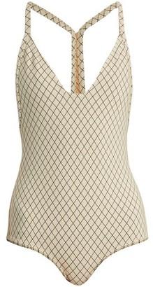 Made By Dawn - Traveler Racer Back Swimsuit - Womens - Cream
