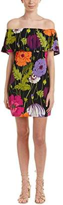 Trina Turk Trina Women's Merci Queen of Flowers Off The Shoulder Dress