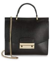 Furla Julia Leather Chainlink Crossbody Bag
