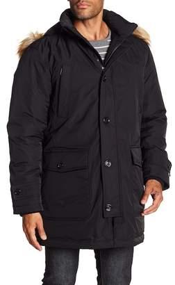 BOSS Delano Coat w/ Faux Fur Trimmed Hoodie