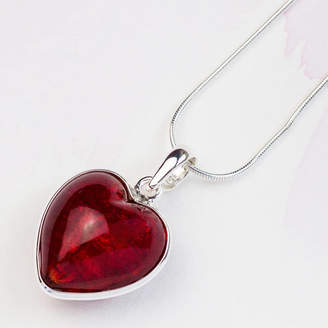 Glass Heart Claudette Worters Murano Sterling Silver Pendant